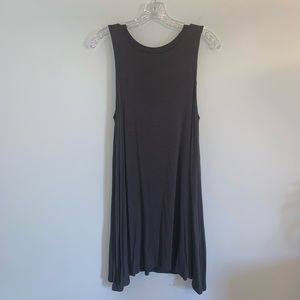 VERY J Fringe-Back Trapeze Dress